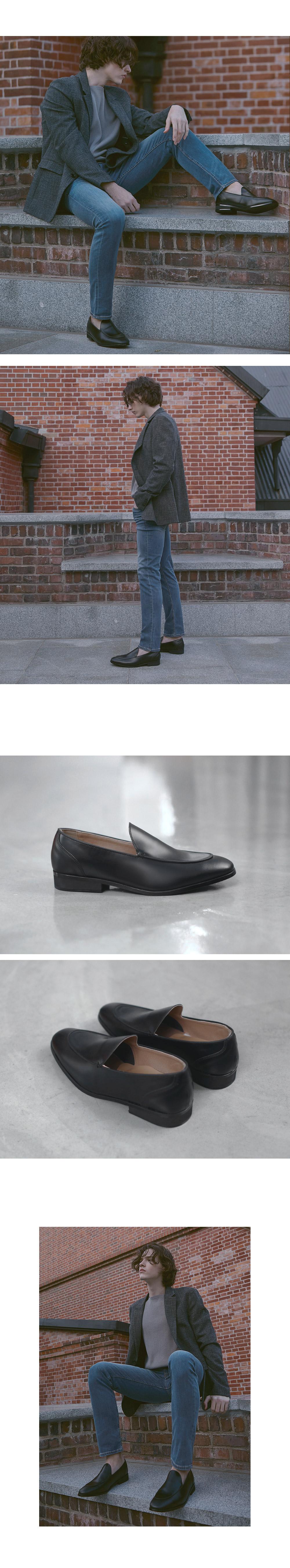 파스코로젠 U팁 로퍼 조나단 블랙